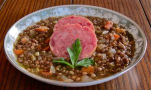 Lentil Soup with Cotechino