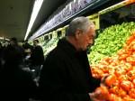 Choosing peppers to roast @ Corrado's Family Market