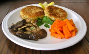Halibut and potato fish cakes