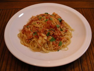 Capellini with Crab Sauce