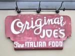 Original Original Joe's Sign