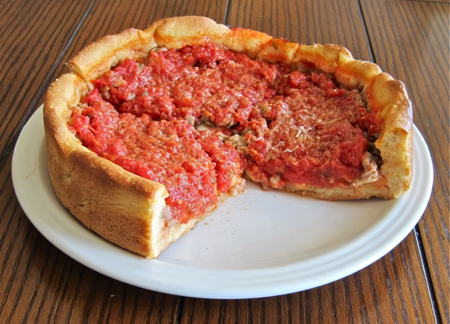 Deep Dish Pizza Pie Recipe Sausage Deep-dish Pizza