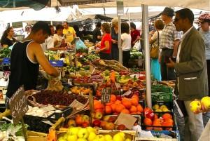 Campo di Fiori Produce Market in Rome