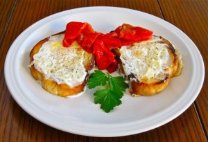 "Oscar-Winning Eggs with Roasted Peppers Inspired by ""Moonstruck"""