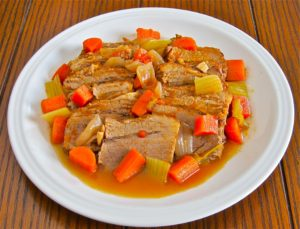 Italian beef brisket long braised with herbs and aromatic vegetables
