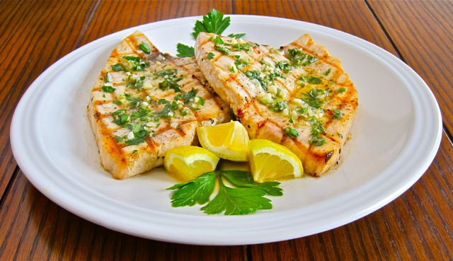 Grilled swordfish with salmoriglio sauce gianni 39 s north for Sword fish recipes