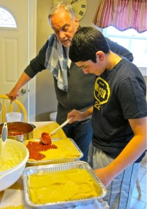 Making My Mom's Lasagna with My Godson
