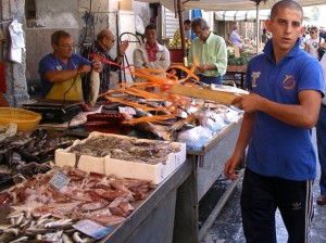 Sicilian Open Air Fish Market