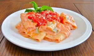 Paccheri with Ricotta and Fresh San Marzano Tomato Sacue