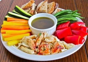 Anchovy Garlic Hot Dipping Sauce for Crab & Veggies