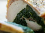 Roasted boneless chicken breast stuffed with spinach & prosciutto
