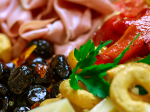 Italian salumi and cheeses are the stars of this antipasti platter